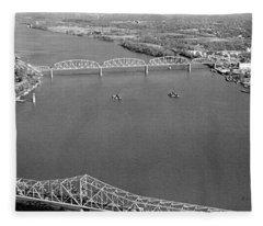 Kennedy Bridge Construction Fleece Blanket