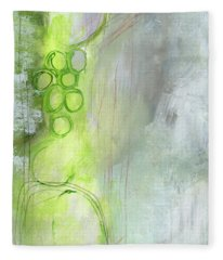 Kensho- Abstract Art By Linda Woods Fleece Blanket
