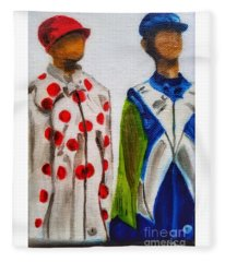 Kentucky Derby Jockey Mannequins Fleece Blanket