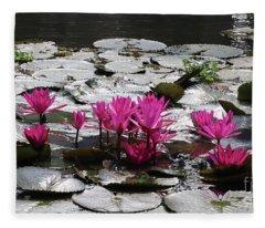 Kerala Canal Lilies Fleece Blanket