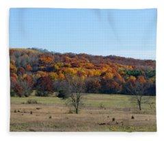 Kettle Morraine In Autumn Fleece Blanket