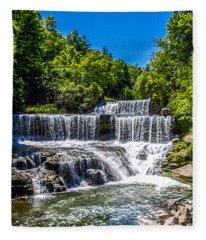 Keuka Outlet Waterfall Fleece Blanket