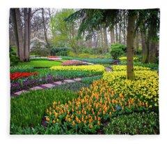 Keukehof Botanic Garden 2015 Fleece Blanket