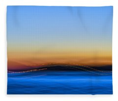 Key West Abstract Fleece Blanket