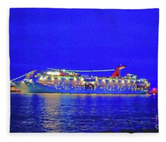 Key West Cruising  Fleece Blanket