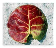 Key West Leaf In The Sand Fleece Blanket