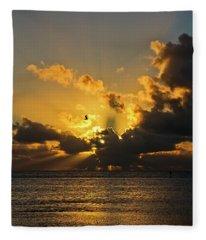 Key West Sunrise 39 Fleece Blanket
