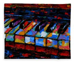 Keyboard Fleece Blanket