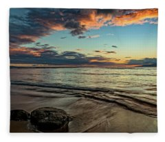 Kihei, Maui Sunset Fleece Blanket