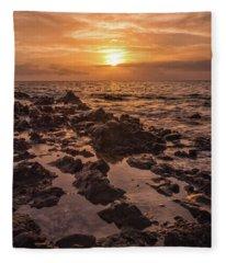 Kihei Sunset 2 - Maui Hawaii Fleece Blanket