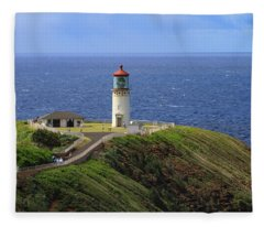 Kilauea Point Lighthouse Fleece Blanket