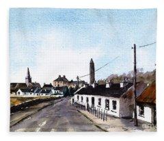 Killala In North Mayo Fleece Blanket