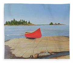 Killarney Canoe Fleece Blanket