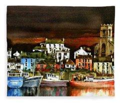 Killybegs Harbour, Donegal. Fleece Blanket