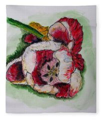 Kimberly's Flowers Fleece Blanket