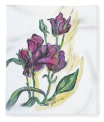Kimberly's Spring Flower Fleece Blanket