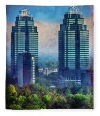 King And Queen Buildings Fleece Blanket