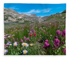 King Lake Summer Landscape Fleece Blanket