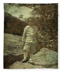 King Of The Mountaintop Fleece Blanket