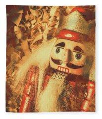 King Of The Toy Cabinet Fleece Blanket