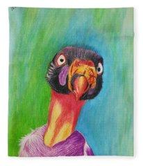 King Vulture  Fleece Blanket