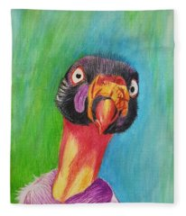 King Vulture  Fleece Blanket