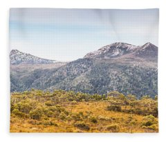 King William Range. Australia Mountain Panorama Fleece Blanket