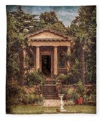 Kew Gardens, England - King William's Temple Fleece Blanket
