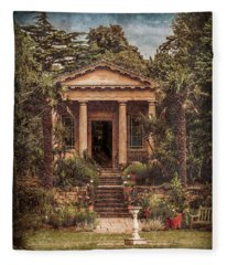 Kew Gardens, England - King William's Temple Fleece Blanket