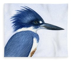 Kingfisher Portrait Fleece Blanket
