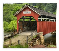 Kings Covered Bridge Somerset Pa Fleece Blanket