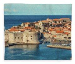 Kings Landing Dubrovnik Croatia - Dwp512798 Fleece Blanket