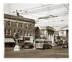 Kingston Corners Kingston Pa Early 1950s Fleece Blanket