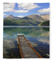 Kintla Lake Dock Fleece Blanket