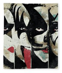 Kiss Art Print Fleece Blanket