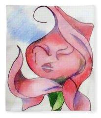 Kiss Of A Rose Fleece Blanket