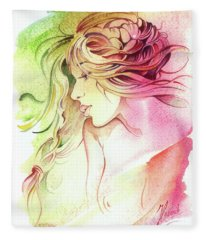 Kiss Of Wind Fleece Blanket