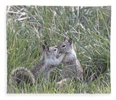 Kisses In The Grass Fleece Blanket