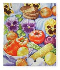 Kitchen Symphony Fleece Blanket