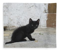 Kitten In Iznajar Fleece Blanket