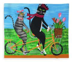 Kitty Cat Outing Fleece Blanket