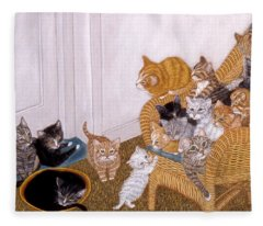 Kitty Litter II Fleece Blanket