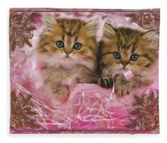 Kitty Love Fleece Blanket