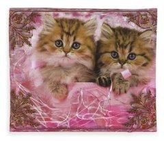 Kitty Love Fleece Blanket