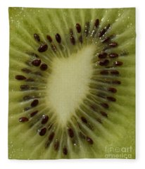 Kiwi Macro Fleece Blanket