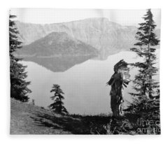 Klamath Chief, C1923 Fleece Blanket