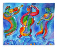 Klezmer On The Roof Fleece Blanket