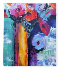 Knife Painted Bouquet Fleece Blanket