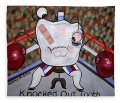 Knocked Out Tooth Fleece Blanket