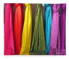 Knots And Fringe Fleece Blanket
